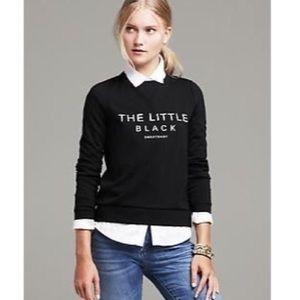 Banana Republic The Little Black Sweatshirt L